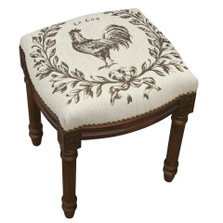 Rooster Upholstered Vanity Stool | Rooster Vanity Stool | CS039FS-GY