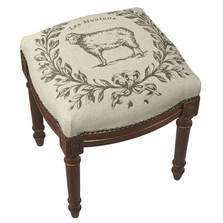 Sheep Upholstered Vanity Stool | Sheep Vanity Stool | CS041FS-GY