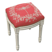 Dragonfly French Upholstered Vanity Stool | Dragonfly Vanity Stool | CS050WFS-CO