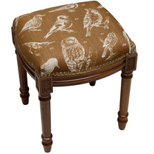 Bird Watch Upholstered Vanity Stool | Bird Watch Vanity Stool | CS062FS-CA