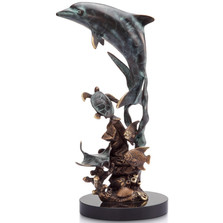 Dolphin & Friends Sculpture | 31551 | SPI Home