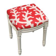 Coral Upholstered Vanity Stool | Coral Vanity Stool | CS068WFS-CO