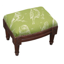 Bird Watch Upholstered Footstool | Bird Footstool | CNK062FSS-CH