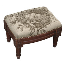 Bird's Nest Upholstered Footstool | Bird Nest Footstool | CS036FSS-GY