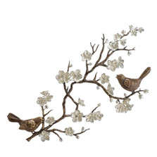 Bird and Cherry Blossom Wall Plaque | 33515 | SPI Home