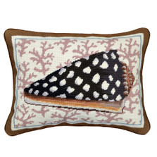 Spotted Shell Needlepoint Pillow | Shell Needlepoint Pillow | C935.14x18
