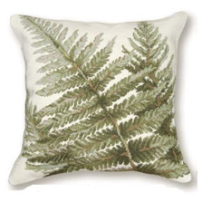 Shuttlecock Fern Needlepoint Pillow | Fern Needlepoint Pillow | C916.18x18