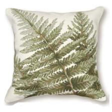 Shuttlecock Fern Needlepoint Pillow | Fern Needlepoint Pillow | C916.18x18