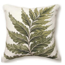 Fern Needlepoint Pillow | Fern Needlepoint Pillow | C819.18x18