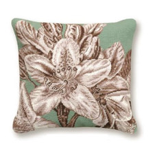 Lily Flower Needlepoint Pillow | Lily Needlepoint Pillow | C938.16x16