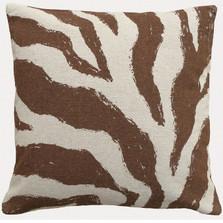 Zebra Upholstered Pillow | Zebra Pillow | CS009P-BR.20x20