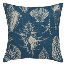 Sea Shell Upholstered Pillow | Shell Pillow | CS020P-NY.20x20