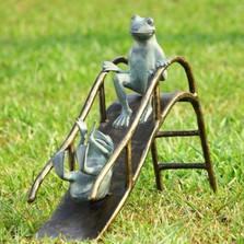 Frogs Sliding Garden Sculpture | 33789 | SPI Home