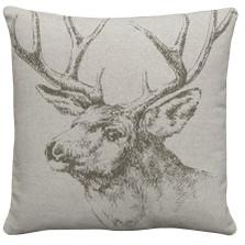 Elk Upholstered Pillow | Elk Pillow | CS044P-GY.18x18