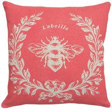Bee French Upholstered Pillow | Bee Pillow | CS049P-CO.18x18