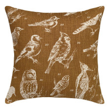 Bird Watch Upholstered Pillow | Bird Pillow | CS062P-CA.20x20