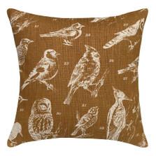 Bird Watch Upholstered Pillow | Bird Pillow | CS062P-CA.20x20