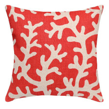Coral Upholstered Pillow | Coral Pillow | CS068P-CO.20x20