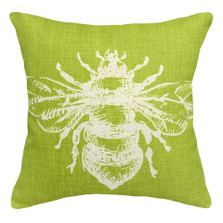 Bumble Bee Upholstered Pillow | Bee Pillow | CS071P-CH.18x18