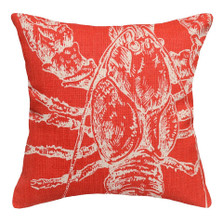Lobster Upholstered Pillow | Lobster Pillow | CS074P-CO.18x18