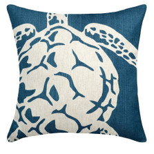 Sea Turtle Upholstered Pillow | Turtle Pillow | CS104P-NY.20x20