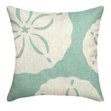 Sand Dollar Upholstered Pillow | Sand Dollar Pillow | CS106P-AQ.20x20