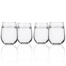 "Crab Wine Tumbler Set of 4 ""Cast of Crabs""  
