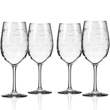 Fish 18 oz Wine Glass Set of 4 | Rolf Glass | 600260