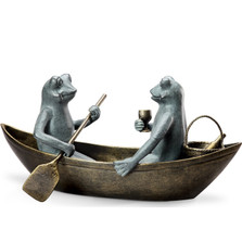 Frog Sculpture | Rowboat Picnic | SPI Home | 34279 -2