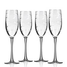 Fish Flute Set of 4 | Rolf Glass | 600451