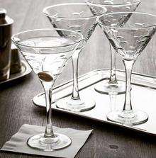 Fish Martini Glass Set of 4 | Rolf Glass | 600130