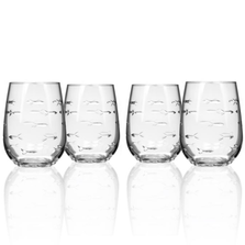 Fish Wine Tumbler Set of 4 | Rolf Glass | 600338