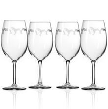 Dolphin 18 oz Wine Glass Set of 4   Rolf Glass   340265