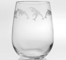 Dolphin Wine Tumbler Set of 4 | Rolf Glass | 340333