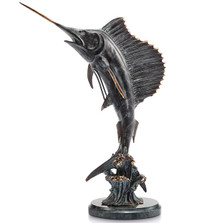 Sailfish Tail Walker Sculpture | 30817 | SPI Home