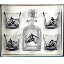 Horse Decanter Set | Seabiscuit | Richard Bishop | 2039SEA