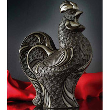 Rooster Ceramic Figurine | Nero Collection | De Rosa | Rinconada | N101