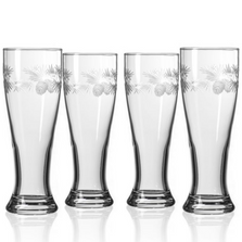 Icy Pine Pilsner Glass Set of 4  | Rolf Glass | 207469