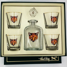 "Fox Decanter Set ""Fox Mask"""