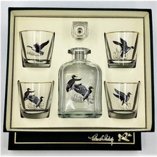 "Waterfowl Decanter Set | ""Waterfowl"" 
