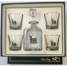 Deer Decanter Set | Deer Drinkware Set | Richard Bishop | 2039DEE