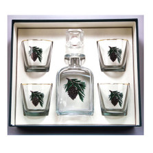 Pine Cone Decanter Set | Richard Bishop | 2039PCO