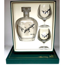 "Duck brandy Decanter Set | ""Third Federal Duck Stamp"" 