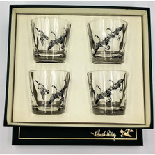 "Duck Optic Double Old Fashioned Glass Set | ""Third Federal Duck Stamp"" 