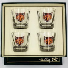 "Fox Optic Double Old Fashioned Glass Set | ""Fox Mask"" 