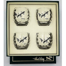 "Duck Optic Cocktail Glass Set | ""Third Federal Duck Stamp"" 