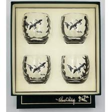 "Duck Optic Cocktail Glass Set | ""Third Federal Duck Stamp"" | Richard Bishop | 3028THI"