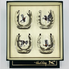 "Bird Optic Cocktail Glass Set | ""Gamebirds"" 