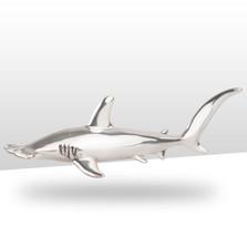Hammerhead Shark Silver Plated Sculpture | A91 | D'Argenta