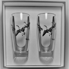 "Duck Beer Glass Set | ""Third Federal Duck Stamp"" 